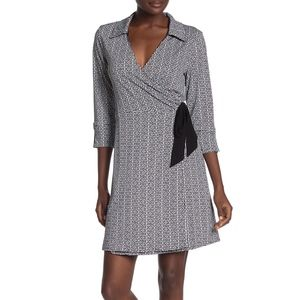 Laundry By Shelli Segal Reversible Wrap Dress